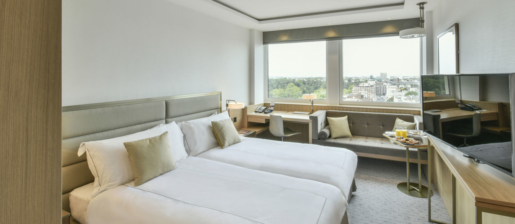 Twin hotel rooms near Lancaster Gate
