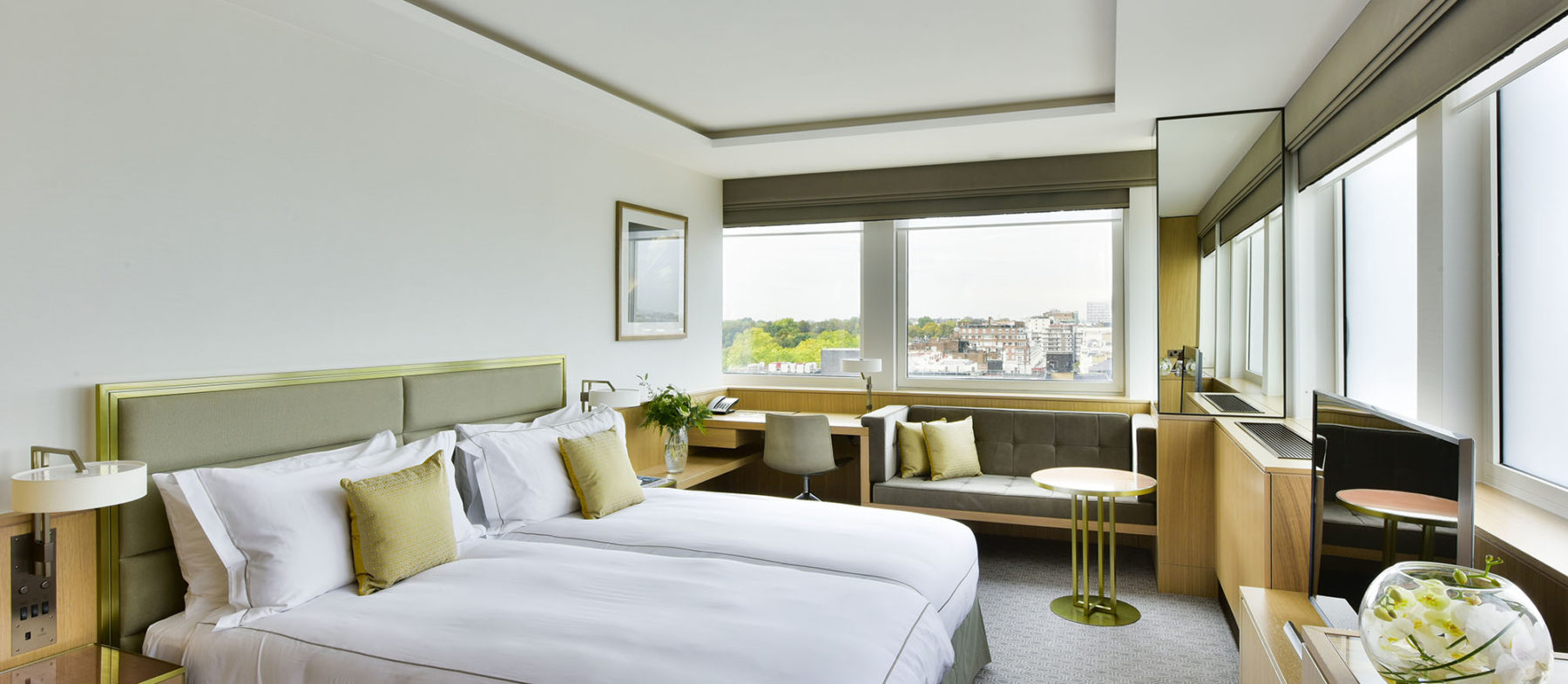 Deluxe Twin room with a view near Hyde Park
